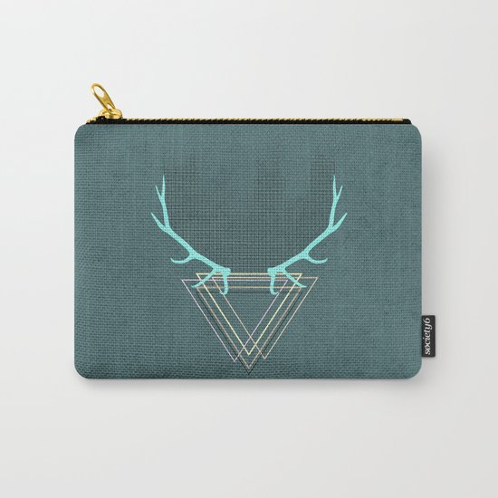 minimalistic deer Carry-All Pouch