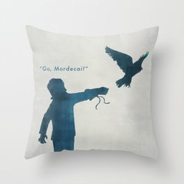 """Go, Mordecai!"" Throw Pillow"