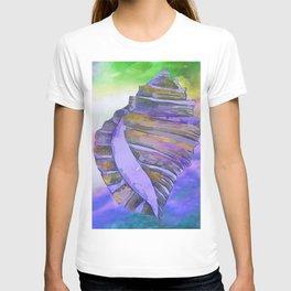 NAUTILUS CONCH SEA SHELL PURPLE IMPRESSIONS T-shirt
