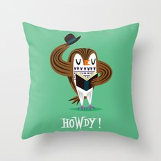 The Howdy Owl Throw Pillow