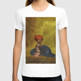 Cute little fairy with wolf T-shirt
