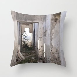 Abandoned house 2 Throw Pillow
