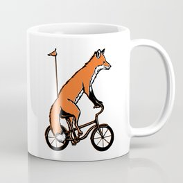 Fox on bike Coffee Mug