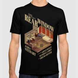 Rear Window Hitchcock Tribute Poster T-shirt