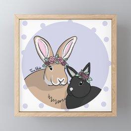 Chloe and Max Framed Mini Art Print