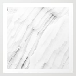 White Marble Edition 1 Art Print