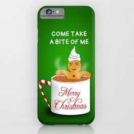 Gingerbread Man at the Chocolate Spa -Christmas iPhone Case
