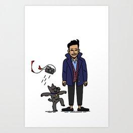 Bono and Friend Art Print