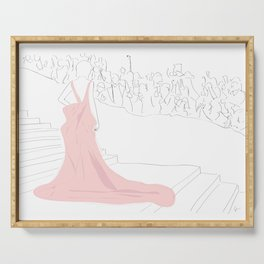 Pink Gown Oscar Red Carpet Hollywood Serving Tray