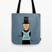 literature Tote Bags featuring Victorian Literature - Thakeray  by Natallia Pavaliayeva