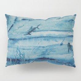 Sharks in deep blue Pillow Sham