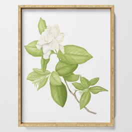 Gardenia Flower Serving Tray