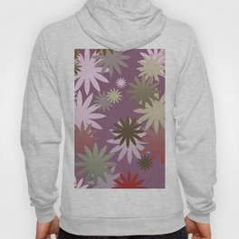 Modern Flower pattern purple Hoody