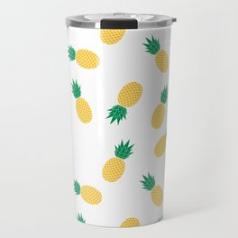 PINEAPPLE ANANAS FRUIT FOOD PATTERN Travel Mug