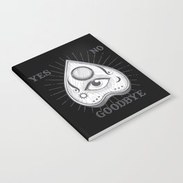 Yes No Goodbye Magic Ouija Vintage Planchette Design Notebook
