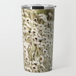 Life is But a Dream -- Vintage Wildflowers Daisies Asters Fleabane Travel Mug