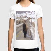 montana T-shirts featuring Montana Traffic Jam by Kim Ramage