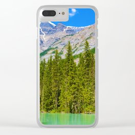 Mt. Robson and the Robson River in British Columbia, Canada Clear iPhone Case