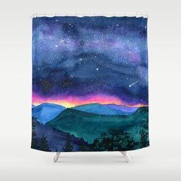 Good Night Smoky Mountains Shower Curtain