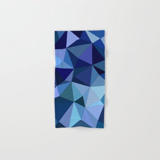 Blue triangles Hand & Bath Towel