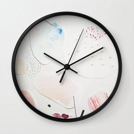 Minimalist Watercolor Collage Detail III Wall Clock