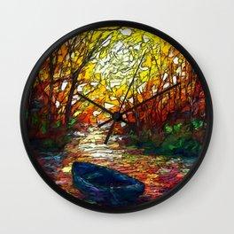 OLena Art, sunset, landscape, artwork, artistic, impressive, illustration, painting, sceni OLena Art Wall Clock