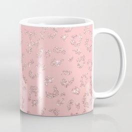 Modern faux rose gold glitter leopard ombre pink pattern Coffee Mug