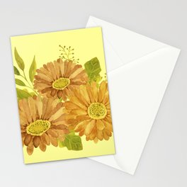 Happy Marigold Bouquet Stationery Cards