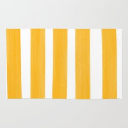 Sunny Yellow Paint Stripes Rug