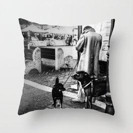 street photography genzano di roma Throw Pillow
