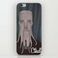 cthulhu iPhone & iPod Skins featuring cthulhu by Crooked Octopus