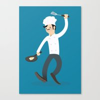 chef Canvas Prints featuring Chef by bluespore