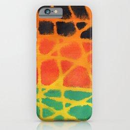 Colorful giraffe pattern iPhone Case