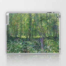1887-Vincent van Gogh-Trees and undergrowth Laptop & iPad Skin