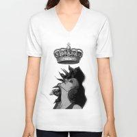 mercedes V-neck T-shirts featuring Colección Reina Mercedes by Reina Mercedes