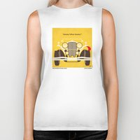 fitzgerald Biker Tanks featuring No206 My The Great Gatsby minimal movie poster by Chungkong