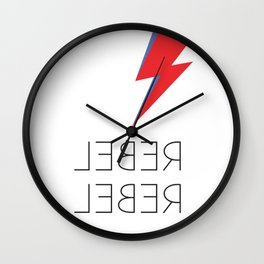 David Rebel Rebel Rock Music Aladdin Sane Bolt Glam Rock Music Wall Clock