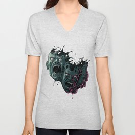 Cathartic Chaos (color) Unisex V-Neck