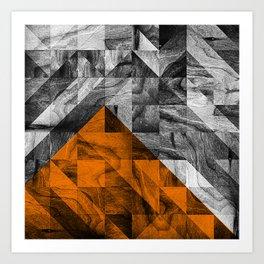 STONE STONE ORANGE Art Print