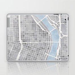 Portland Oregon watercolor city map art Laptop & iPad Skin
