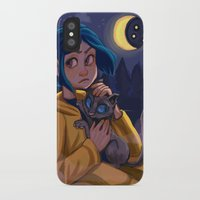 coraline iPhone & iPod Cases featuring Coraline by Corelle_Vairel