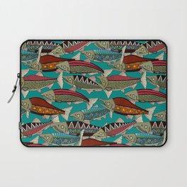 Alaskan salmon teal Laptop Sleeve