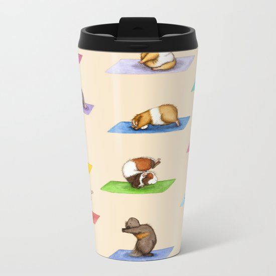 The Yoguineas Collection - Namast-hay! Metal Travel Mug