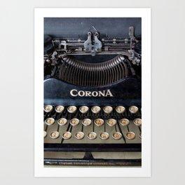Corona Typewriter Art Print
