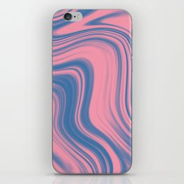 Liquid pink and blue iPhone Skin