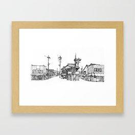 Urban space - Row of shops #2 Framed Art Print