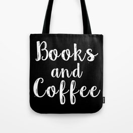 Books and Coffee - Inverted Tote Bag