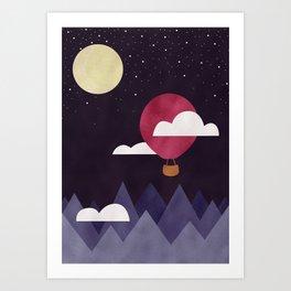 Moon Sailing Art Print