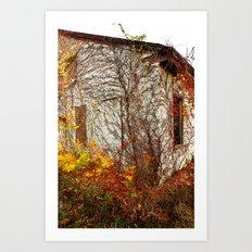 Somewhere in Rhode Island - Abandoned Mill 002 Art Print