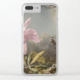 Martin Johnson Heade - Cattleya Orchid And Three Hummingbirds Clear iPhone Case